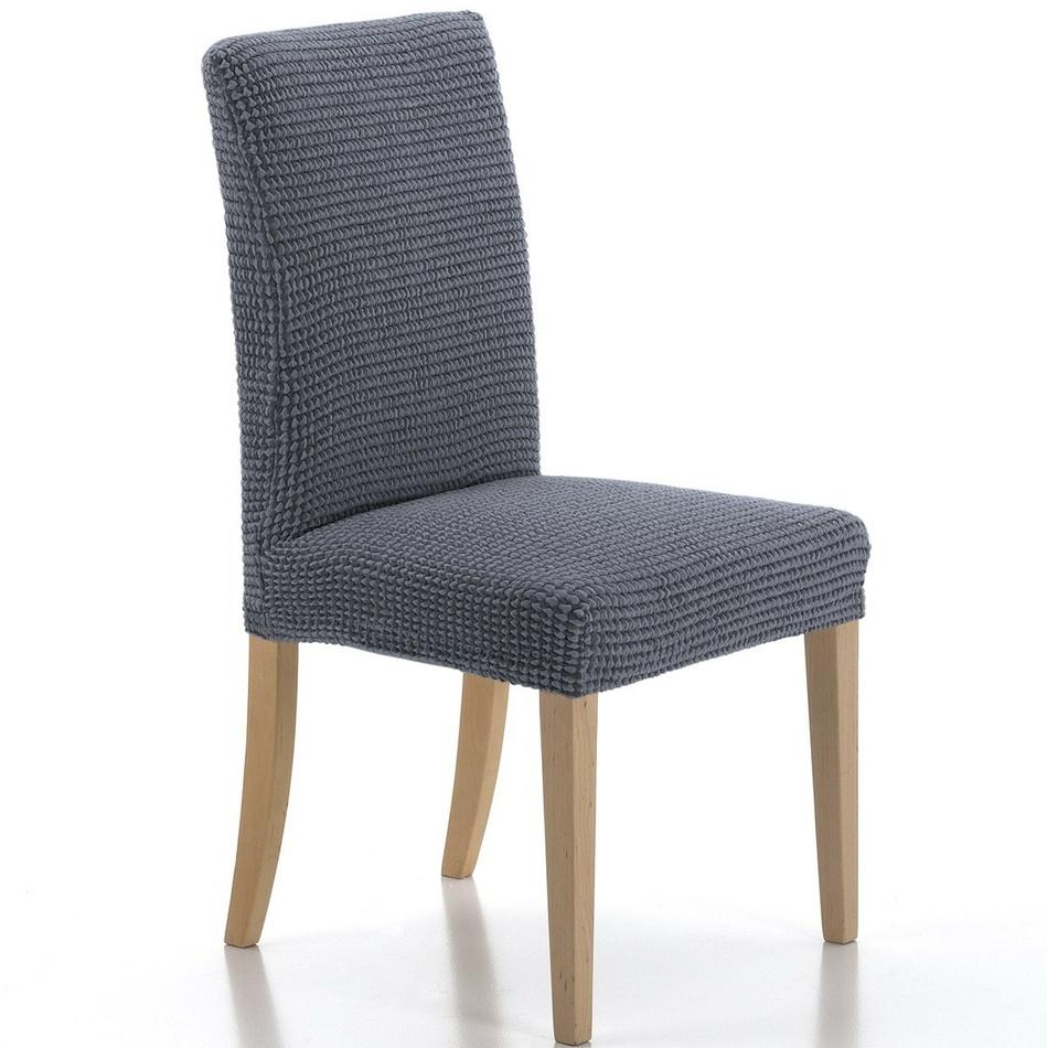 Multielastyczny pokrowiec na krzesło Sada, niebieski, , 45 x 45 cm, zestaw 2 szt.