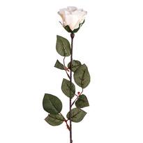 Kwiat sztuczny Róża wielkokwiatowa 72 cm, biały