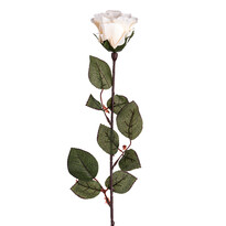 Trandafir artificial cu flori mari 72 cm, alb