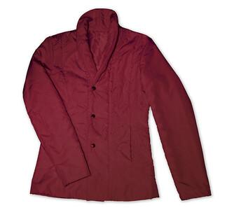 Prošívaný kabátek, vínová, XXXL