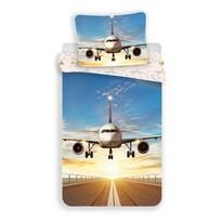Pościel bawełniana Samolot, 140 x 200 cm, 70 x 90 cm