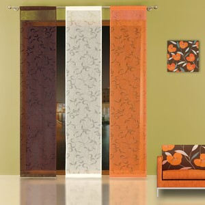 Japonská stěna Natan oranžová, 50 x 240 cm