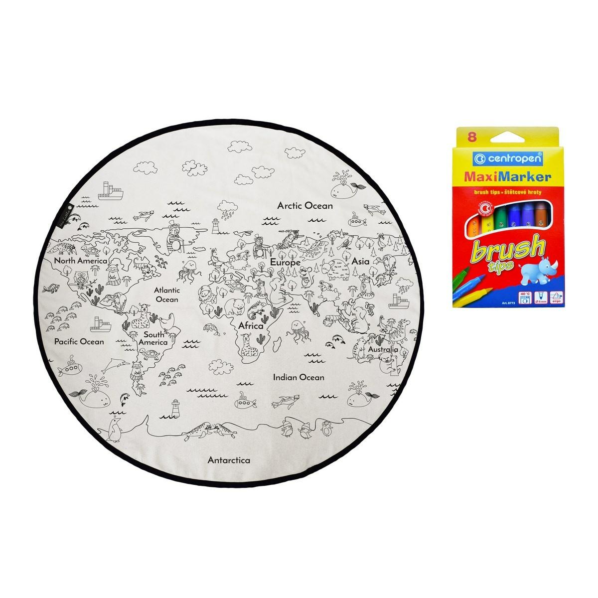 Butter Kings Detská hracia podložka Colouring world, 130 cm