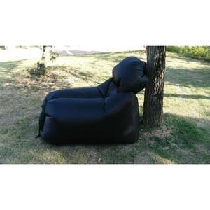 Samonafukovací pytel na sezení Lazy Bag, černá