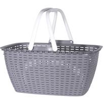 Nákupný košík Ratan 43 x 21,5 cm, sivá