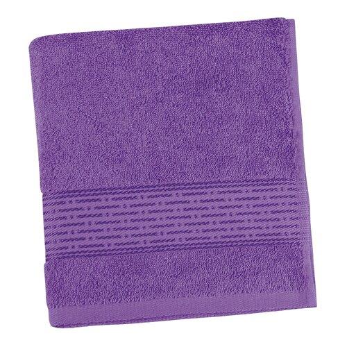 Ręcznik Kamilka Pasek fioletowy, 50 x 100 cm