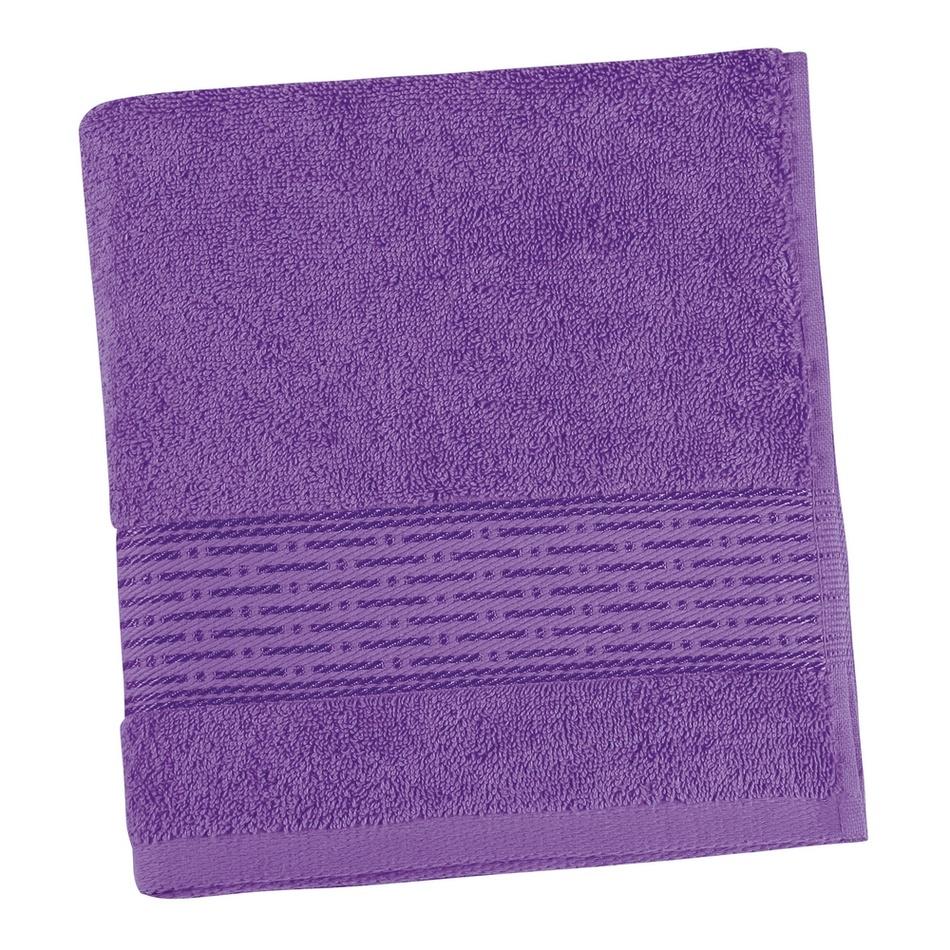 Bellatex Froté ručník Kamilka proužek fialová, 50 x 100 cm