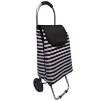 Nákupná taška na kolieskach Čierny pruh, 87 cm