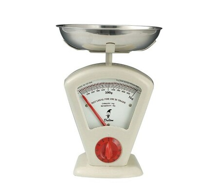 Kuchyňská váha mechanická, Retro, Zassenhaus, béžová