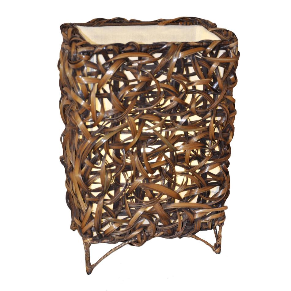 Stolná lampa bambusová rovná,