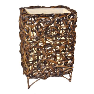 Stolní lampa bambusová rovná