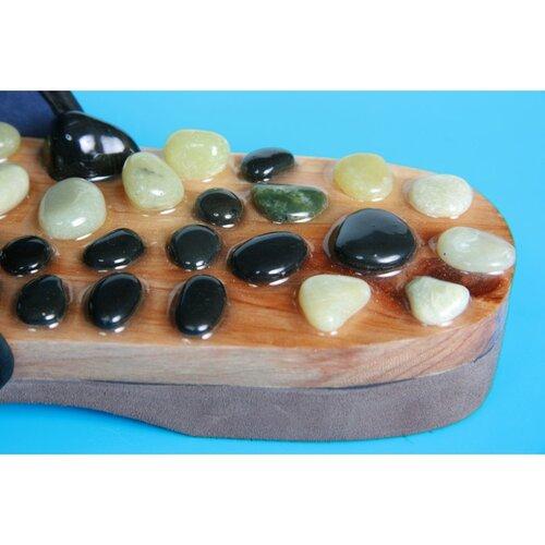 Akupresúrne masážne papuče s prírodnými kameňmi veľ. M, 39 - 41
