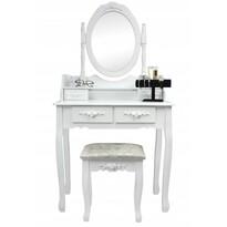 Emilie toalettasztal zsámollyal, 143 x 74 x 40 cm