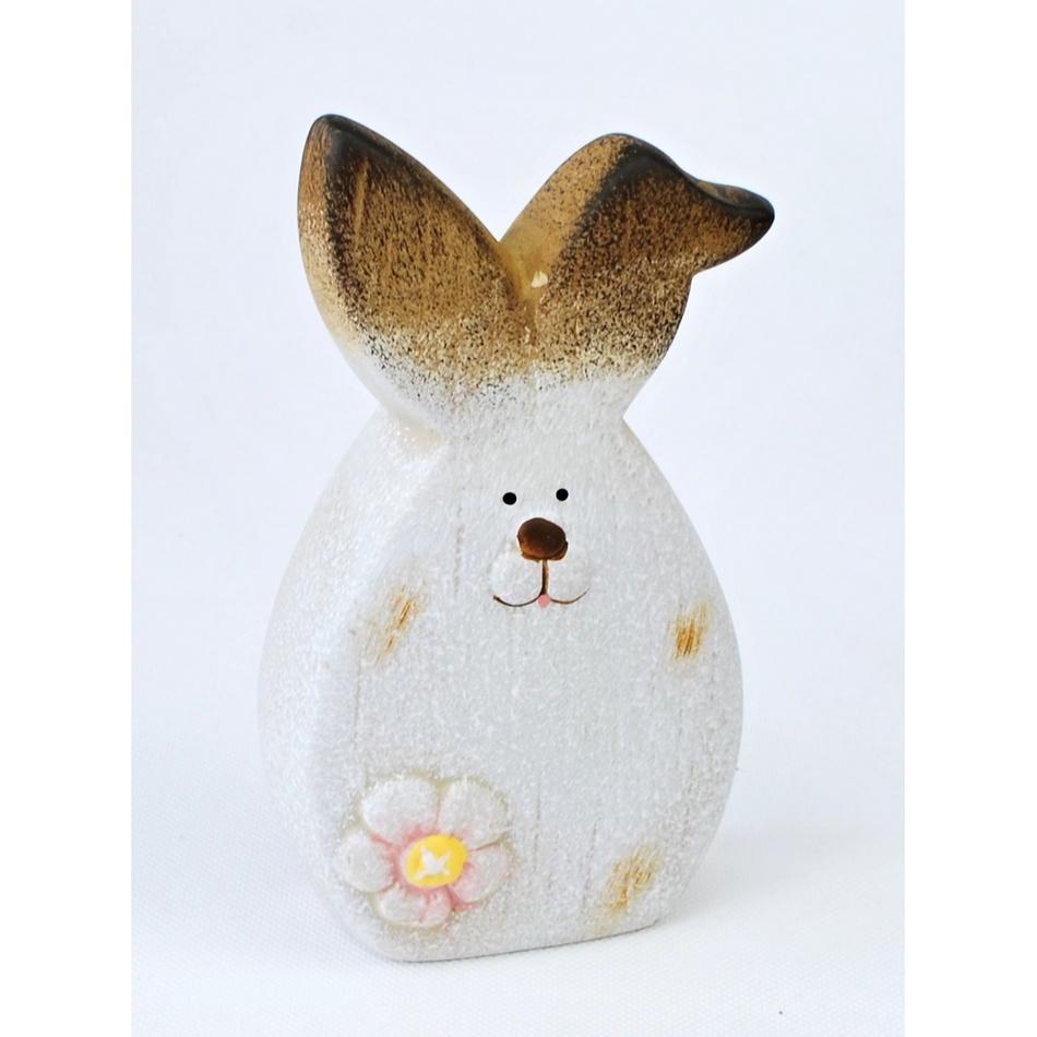 Velikonoční keramický zajíček Floret, 14,5 cm, 14,5 cm