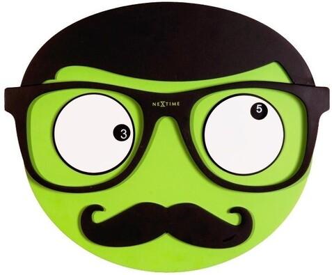 Nextime Mr. Mustache 3089 nástěnné hodiny