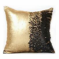 Domarex Poszewka na poduszkę z cekinami Flippy czarny, 40 x 40 cm