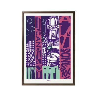 Plakát I Can Play a Love Song 50 x 70 cm, sítotisk