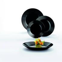 Luminarc 18-częściowy komplet stołowy HARENA, czarny