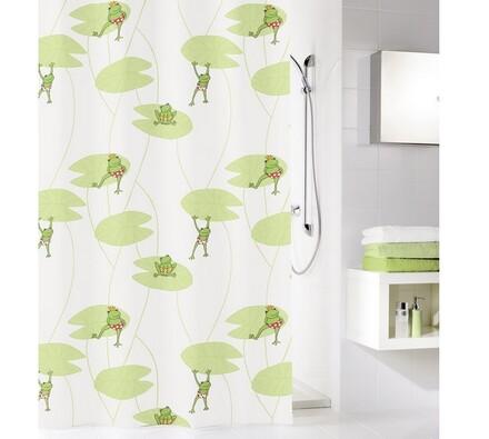 Kleine Wolke sprchový závěs Žabičky zelená, 180 x 200 cm