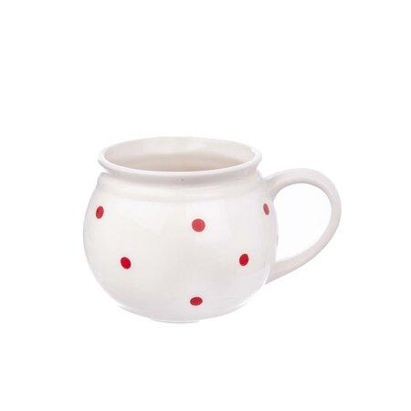 Cană ceramică Orion Slicer 0,2 l, alb/bulină mică