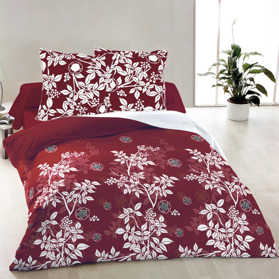 Kvalitex Bavlnené obliečky Molly červená, 220 x 200 cm, 2 ks 70 x 90 cm