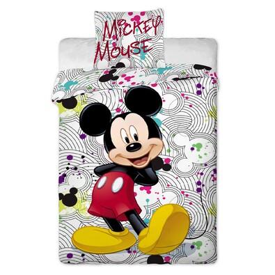 Dětské bavlněné povlečení Mickey grey, 140 x 200 cm, 70 x 90 cm