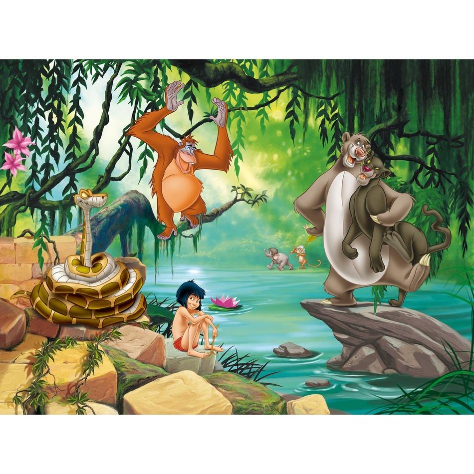 Levně AG Art Dětská fototapeta XXL Kniha džunglí, 360 x 270 cm, 4 díly