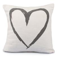 Obliečka na vankúšik Heart biela, 40 x 40 cm