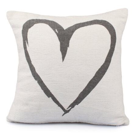 Poszewka na poduszkę Heart biały, 40 x 40 cm