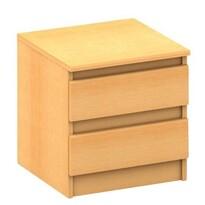 Nočný stolík Hany 002, 2 šuplíky, buk