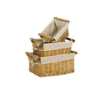 Proutěné košíky 3 ks přírodní