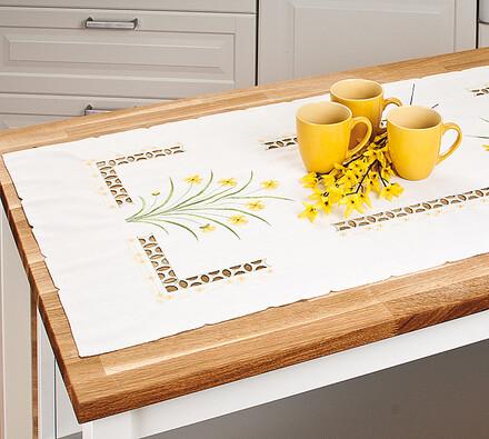 Ubrus žluté jarní kvítí 4Home, 60 x 120 cm
