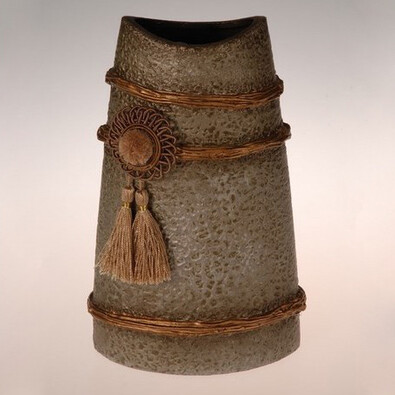 Keramická váza Oran, 29 cm, šedá, 14 x 9 x 29 cm