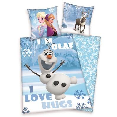 Dětské bavlněné povlečení Ledové království Frozen, 140 x 200 cm, 70 x 90 cm