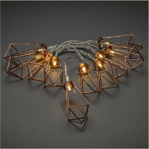 Dekoratívna LED reťaz Lampáše, medená