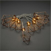Dekorativní LED řetěz Lucerny, měděná