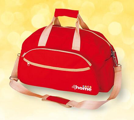 Cestovní taška, červená, červená