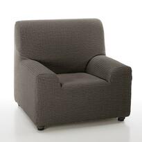 Pokrowiec multielastyczny na fotel Sada brązowy