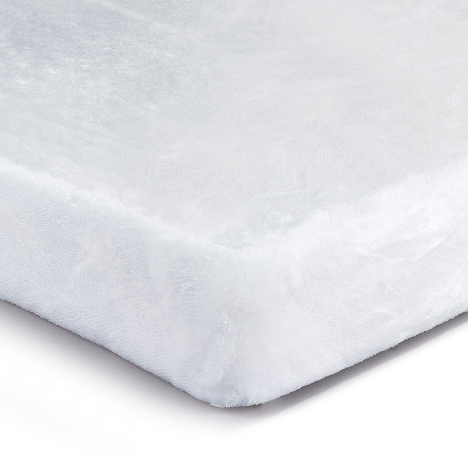 Jahu Prestieradlo Mikroplyš biela, 90 x 200 cm