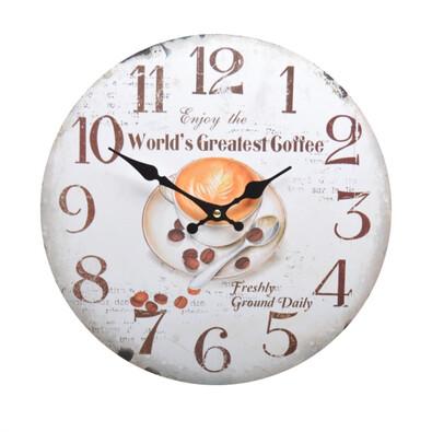 Nástenné hodiny World´s Createst Coffe HLC14508