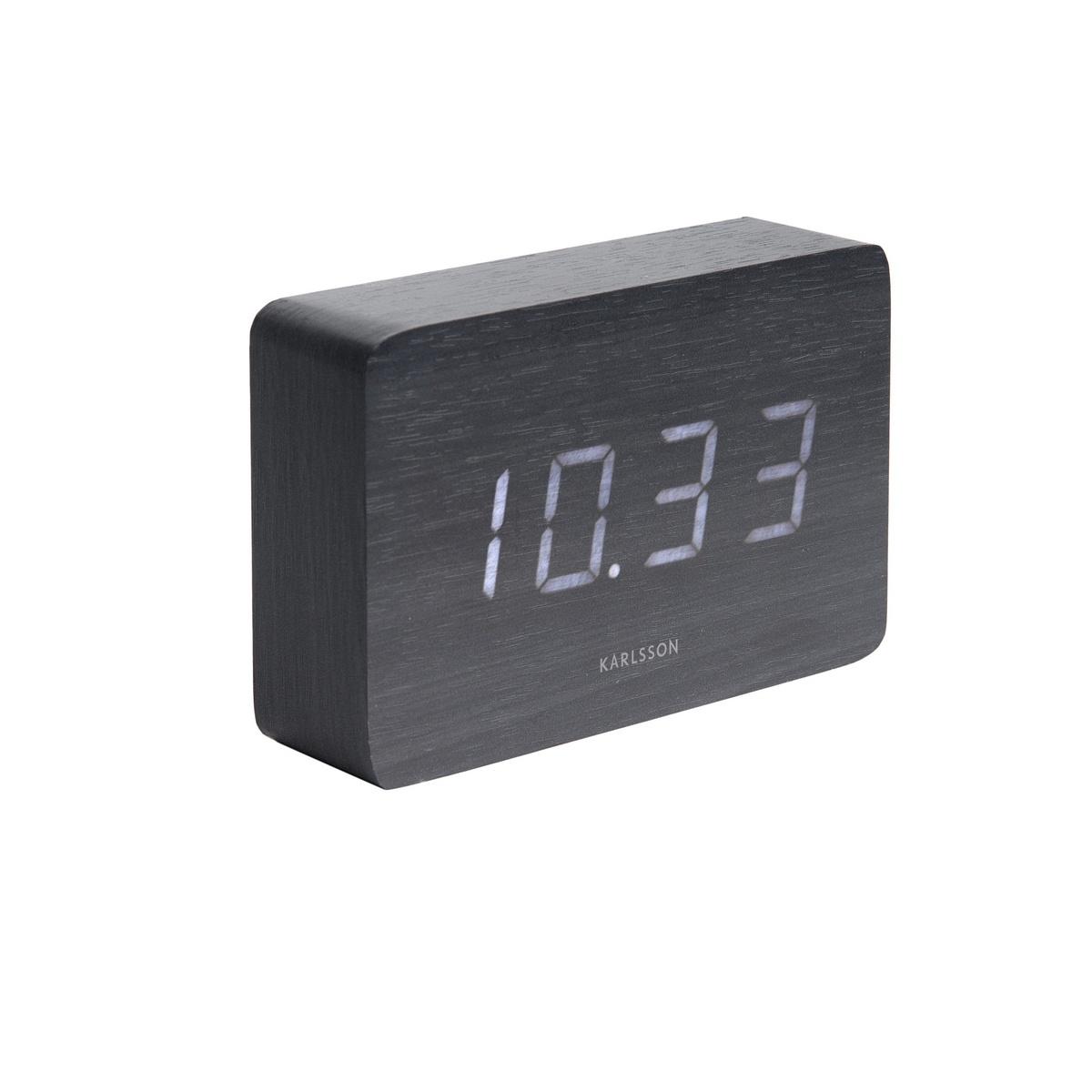 Karlsson 5653BK Designové stolní hodiny s budíkem, 15 x 10 cm