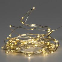 Vonkajší svetelný drôt s časovačom, 80 LED, 4 m, 8 funkcií, teplá biela