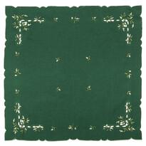 Obrus świąteczny jemioła, zielony, 85 x 85 cm