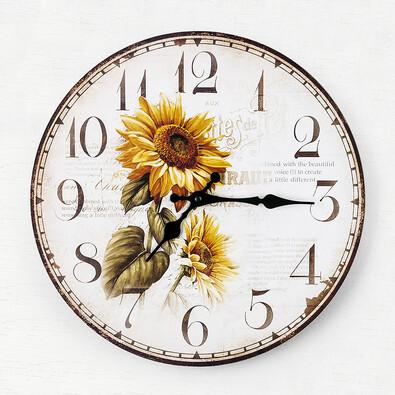 Nástěnné hodiny slunečnice, pr. 34 cm