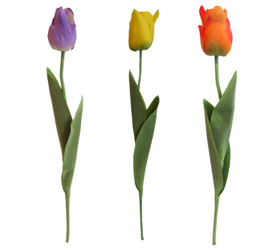Umelé kvety - tulipány, žltá