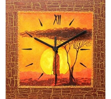 Nástěnné hodiny Africký podvečer