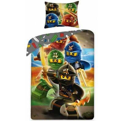 Dětské bavlněné povlečení Lego 374, 140 x 200 cm, 70 x 90 cm