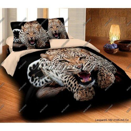 Matějovský pamut ágyneműhuzat Leopard wild, 140 x 200 cm, 70 x 90 cm