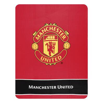 Fleecová deka Manchester United Erb, 130 x 170 cm