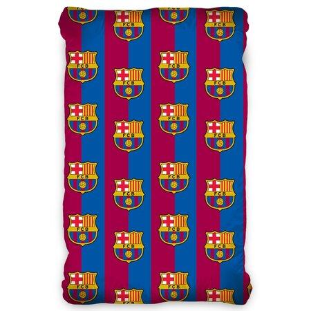 Bavlněné prostěradlo FC Barcelona, 90 x 200 cm